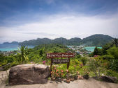 Ko Phi Phi Island Seen from Phi Phi Viewpoint One — Stock Photo