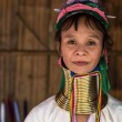 图库照片: Karen Long Neck Womin Hill Tribe Village