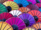 Colorful Umbrellas at Asian Street Market — Foto Stock