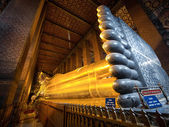 The Reclining Buddha at Wat Pho, Bangkok, Thailand — Stock Photo