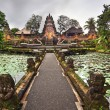 Lotus Pond and Pura Saraswati Temple in Ubud, Bali, Indonesia — Stock Photo #49461743