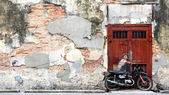 Famous Street Art Mural in George Town, Penang, Malaysia — Stock Photo