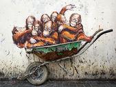 Street Art in Kuching, Sarawak, Malaysia — Stock Photo