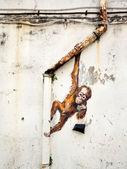Street Art Mural in Kuching, Sarawak, Malaysia — Stock Photo