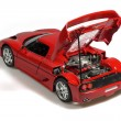 Red sport car miniature — Stock Photo
