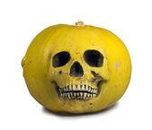 Skull or pumpkin? — Zdjęcie stockowe