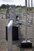 天然气分布 — 图库照片