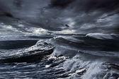 Storm op zee — Stockfoto