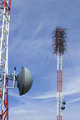 Towers of communication with antennas — Stock Photo