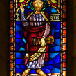 Catholic stained glass window — Lizenzfreies Foto