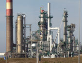 Part of an oil refinery and powerplant — Stock Photo