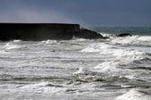 осенью и зимой в португальском побережье — Стоковое фото