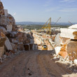 Marble quarry and heavy truck — Stock Photo