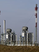 Generators of a powerplant in thr heat — Stock Photo