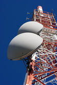 Tower of communication with antennas — Foto Stock