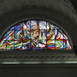Catholic stained glass window — ストック写真