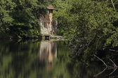 Green watermill — Stock Photo