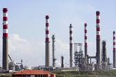 Refinery chimney — Stock Photo