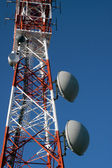 Tower of communication with antennas — Stock Photo