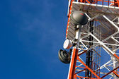 Tower of communication with antennas — Stockfoto