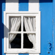 A door with a window — Stock Photo