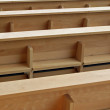 Stock Photo: Church benches