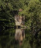 Green watermill — Stock Photo