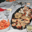 Boiled shrimps and stuffed crab — Stock Photo #36098311