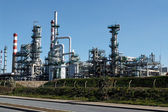 Oil refinery and powerplant — Stock Photo
