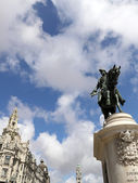 Statue of king D. Pedro IV of Portugal — Stock Photo