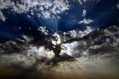 Celestial sunbeams — Stock Photo