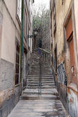 Old alley with stairs — Stock Photo