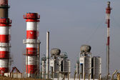 Expansion of refinery and power plant — Stock Photo