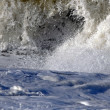 Stock Photo: Foam and splashes from wave