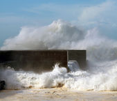 Storm in a sunny day — Stock Photo