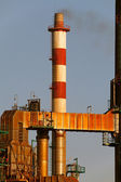 Oil refinery chimney — Photo