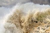 Detailed big crashing wave — Stock Photo