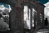 Infrared ruin — Stock Photo