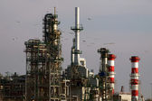 Expansion works at a refinery — Stock Photo