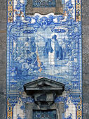 Portuguese traditional religious tiles — Stock Photo
