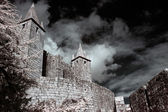 Infrared medieval castle — Stock Photo