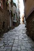 узкая улица — Стоковое фото