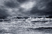 Stormy beach — Stock Photo