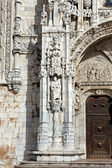 Architectural details of Jeronimos Monastery — Stock Photo