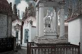 Statua di donna cimitero — Foto Stock