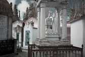 Friedhof frau statue — Stockfoto