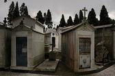 Sad cemetery — Stock Photo