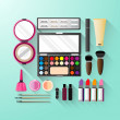 Cosmetics set — Stock Vector #47489489