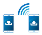 Data link wireless transfer — Stock Vector