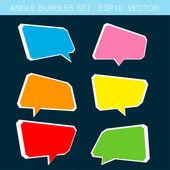 Angle bubbles color set vector — Stock Vector